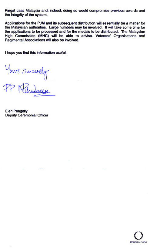 Cabinet Office Letter dated 2 Feb 2006 Page 2